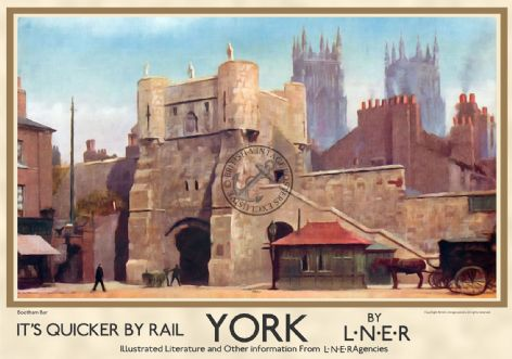 York, Bootham Bar Gate - Landscape